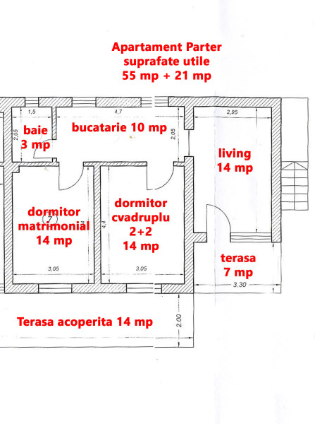 Apartament Parter plan
